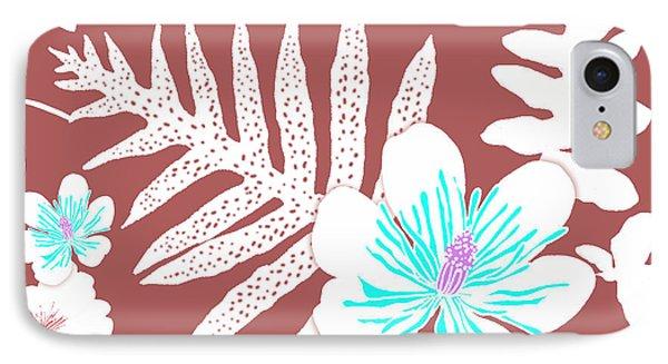Bold Fern Floral - Dusty Cedar IPhone Case