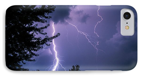 Bold Lightning Strokes IPhone Case by Deborah Smolinske