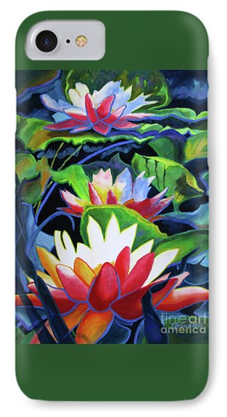 IPhone Case featuring the painting Bold Lilypads by Kathy Braud