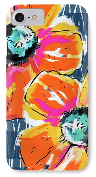 Bold Orange Poppies- Art By Linda Woods IPhone Case by Linda Woods