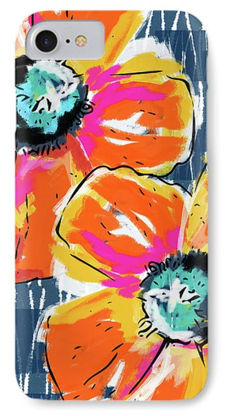 Bold Orange Poppies- Art By Linda Woods IPhone Case