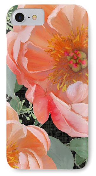 Bold Peony Seeded Eucalyptus Leaves IPhone Case by Audrey Jeanne Roberts