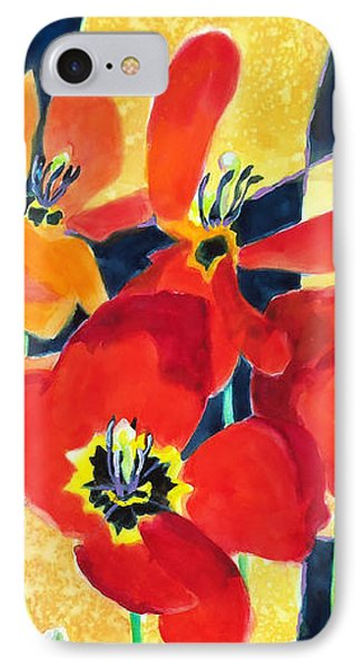 Bold Quilted Tulips Phone Case by Kathy Braud
