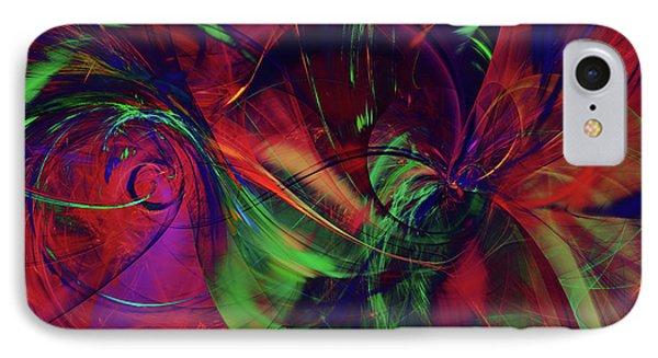IPhone Case featuring the digital art Bold Red by Deborah Benoit
