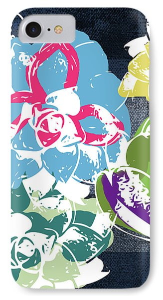 Bold Succulents 2- Art By Linda Woods IPhone Case by Linda Woods