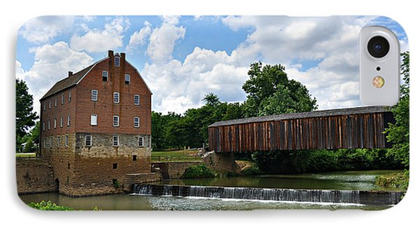Bollinger Mill And Covered Bridge Phone Case by Marty Koch