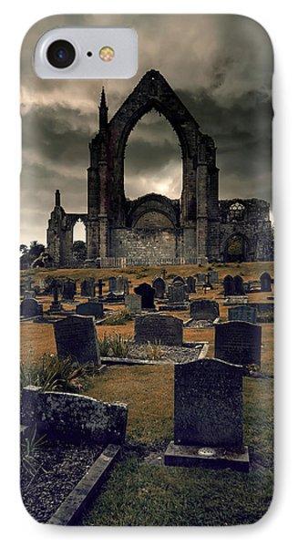 Bolton Abbey In The Stormy Weather IPhone Case by Jaroslaw Blaminsky