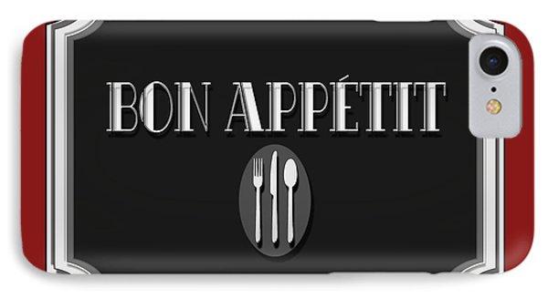 Bon Appetit Art Deco Style Sign IPhone Case