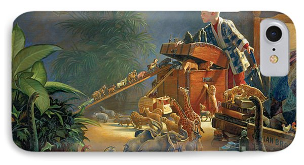 Dinosaur iPhone 7 Case - Bon Voyage by Greg Olsen