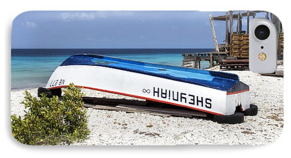 IPhone Case featuring the photograph Bonaire. The Old Boat by Yelena Rozov