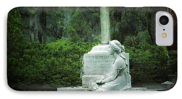 Bonaventure Cemetery Statue IPhone Case by Mark Andrew Thomas