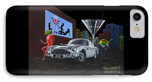 Martini iPhone 7 Case - Bond by Michael Godard
