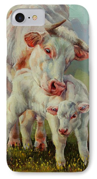 Bonded Cow And Calf IPhone Case by Margaret Stockdale