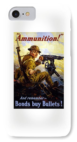 Ammunition  - Bonds Buy Bullets IPhone Case by War Is Hell Store