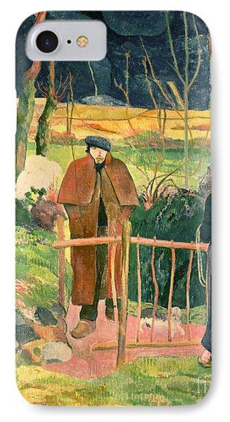 Bonjour Monsieur Gauguin Phone Case by Paul Gauguin