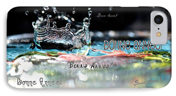Bonne Annee Card Phone Case by Lisa Knechtel