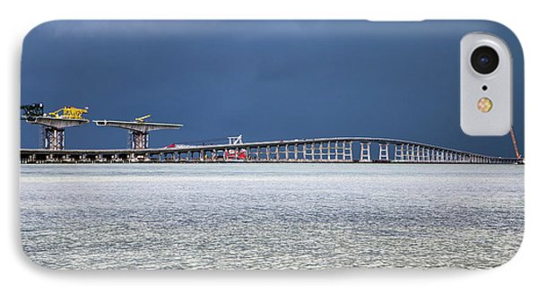 IPhone Case featuring the photograph Bonner Bridge Replacement by Alan Raasch