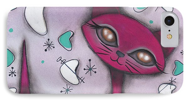 Bonnie Cat IPhone Case by Abril Andrade Griffith