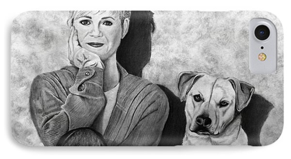 Bonnie Hunt And Charlie Phone Case by Peter Piatt