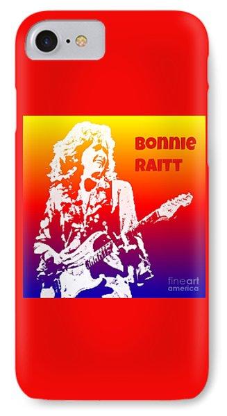 Bonnie Raitt Pop Art IPhone Case by John Malone