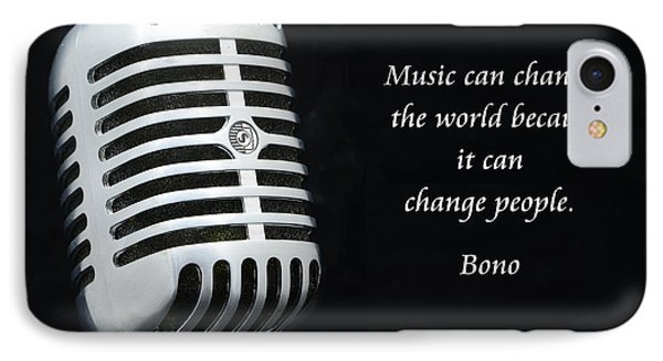 Bono On Music IPhone Case by Paul Ward