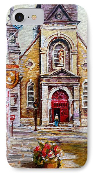 Bonsecours Church Phone Case by Carole Spandau