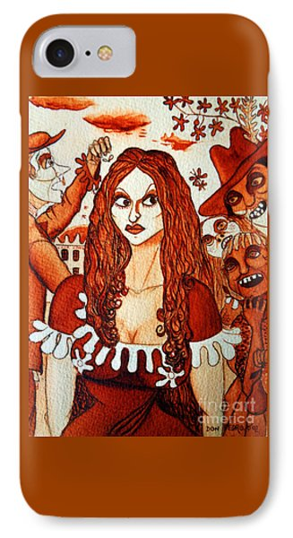 IPhone Case featuring the painting Boor People And Girl by Don Pedro De Gracia