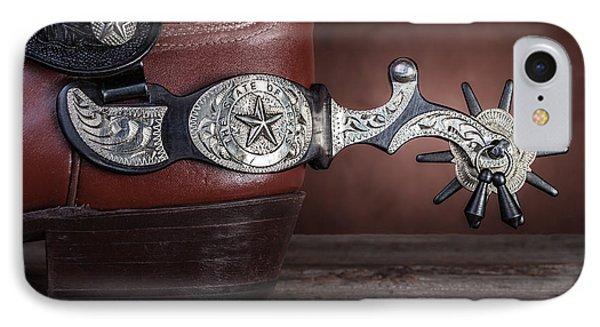 Boot Heel With Texas Spur Phone Case by Tom Mc Nemar