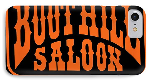 Boot Hill Saloon Sign Phone Case by DigiArt Diaries by Vicky B Fuller