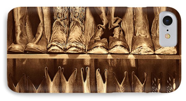 Boot Rack IPhone Case by American West Legend By Olivier Le Queinec
