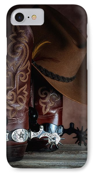 Boots And Spurs IPhone Case by Tom Mc Nemar