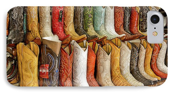 Boots In Every Color IPhone Case by Brenda Bryant