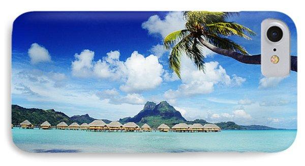 Bora Bora, Lagoon Resort Phone Case by Himani - Printscapes
