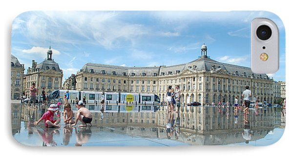 Bordeaux Place De La Bourse IPhone Case by David Bigwood