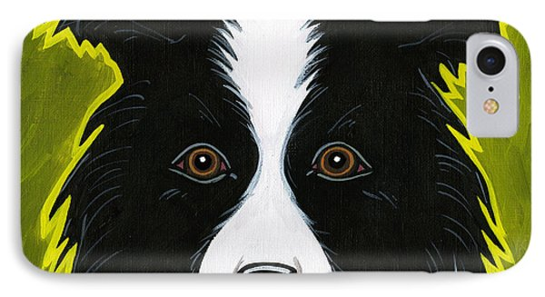 Border Collie Phone Case by Leanne Wilkes