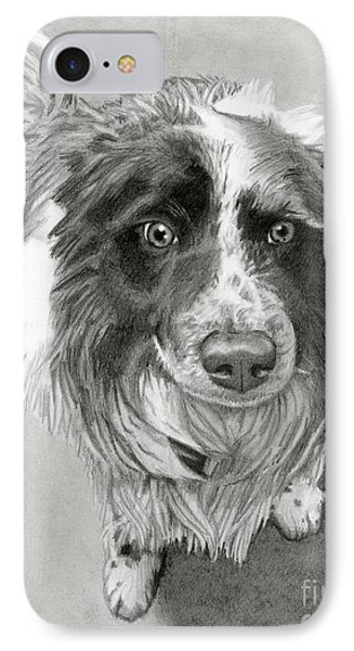 Border Collie IPhone Case by Sarah Batalka