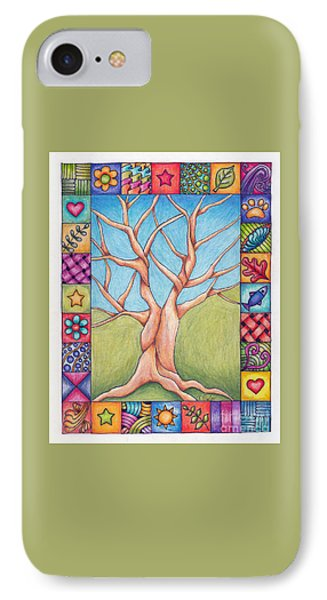 IPhone Case featuring the drawing Border Of Life by Terry Taylor