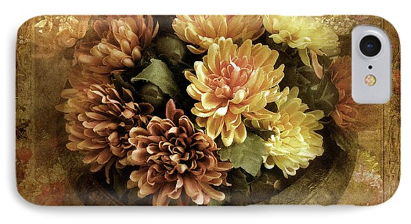 Bordered Mums IPhone Case