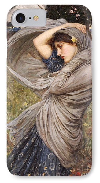 Boreas IPhone Case by John William Waterhouse