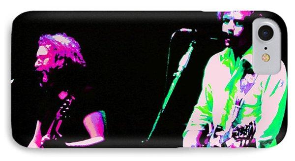 Grateful Dead - Born Cross Eyed IPhone Case by Susan Carella