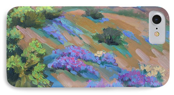 IPhone Case featuring the painting Borrego Springs Verbena by Diane McClary