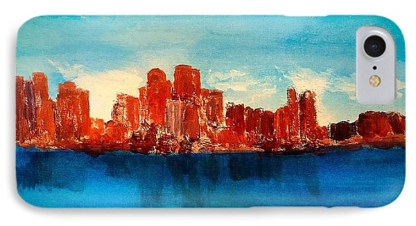 Boston Abstract IPhone Case by Anne Sands