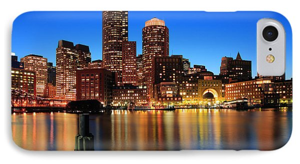Boston Aglow IPhone Case by Rick Berk