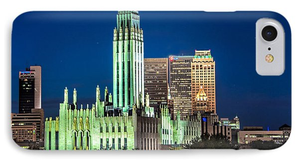 Boston Avenue Methodist Church At Twilight IPhone Case by Tamyra Ayles