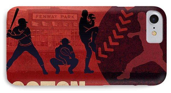 Boston Baseball Team City Sports Art IPhone Case by Design Turnpike