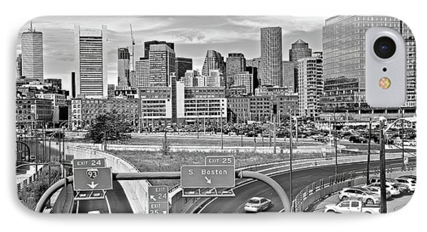 Boston Black And White 2016 IPhone Case by Frozen in Time Fine Art Photography