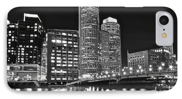 Boston Black And White IPhone Case by Frozen in Time Fine Art Photography