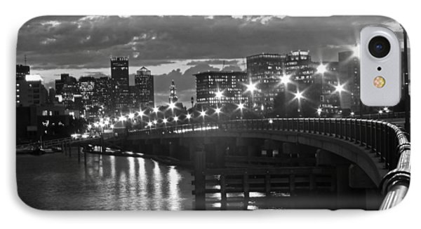 Boston Blue Hour Black And White IPhone Case