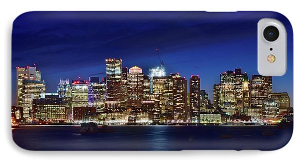 Boston Blue Night 2016 IPhone Case by Frozen in Time Fine Art Photography