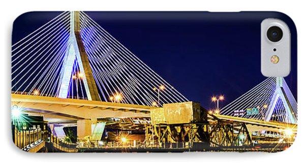 Boston Bunker Hill Zakim Bridge Panorama Photo IPhone Case by Paul Velgos